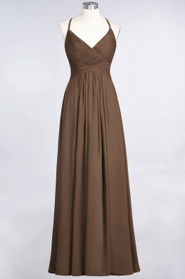 Elegant Princess Chiffon Spaghetti-Straps V-Neck Sleeveless Floor-Length Bridesmaid Dress with Ruffles_12
