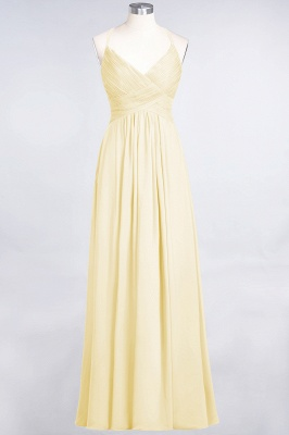 Elegant Princess Chiffon Spaghetti-Straps V-Neck Sleeveless Floor-Length Bridesmaid Dress with Ruffles_17
