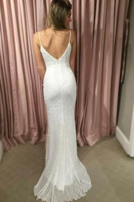 Glamorous Spaghetti-Strpas Sleeveless Mermaid Prom Dresses_2