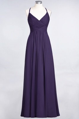 Elegant Princess Chiffon Spaghetti-Straps V-Neck Sleeveless Floor-Length Bridesmaid Dress with Ruffles_18