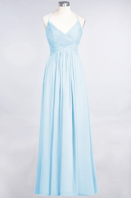 Elegant Princess Chiffon Spaghetti-Straps V-Neck Sleeveless Floor-Length Bridesmaid Dress with Ruffles_22