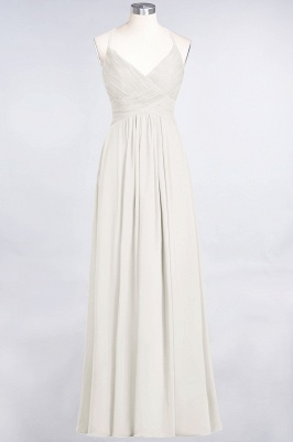 Elegant Princess Chiffon Spaghetti-Straps V-Neck Sleeveless Floor-Length Bridesmaid Dress with Ruffles_2