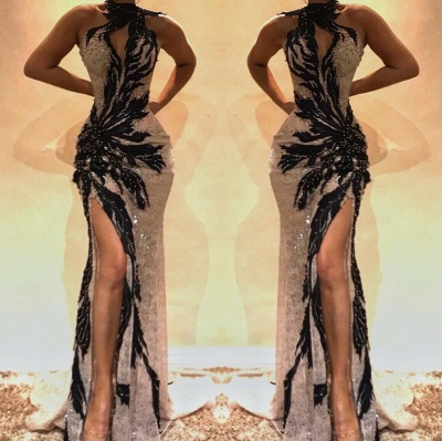 Sexy Lace Beading Mermaid Prom Dresses_2