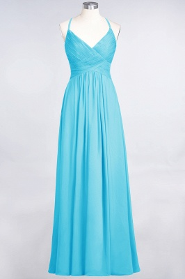 Elegant Princess Chiffon Spaghetti-Straps V-Neck Sleeveless Floor-Length Bridesmaid Dress with Ruffles_23