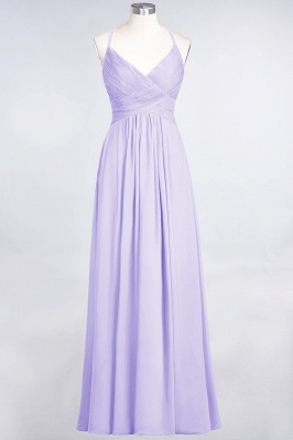 Elegant Princess Chiffon Spaghetti-Straps V-Neck Sleeveless Floor-Length Bridesmaid Dress with Ruffles_20