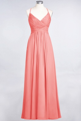 Elegant Princess Chiffon Spaghetti-Straps V-Neck Sleeveless Floor-Length Bridesmaid Dress with Ruffles_7