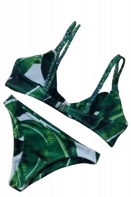 Spaghetti Straps Printed Patterns Bikini Sets_5