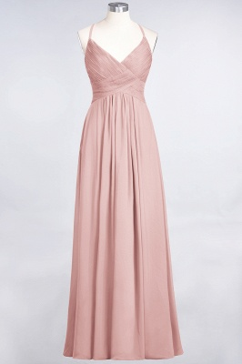 Elegant Princess Chiffon Spaghetti-Straps V-Neck Sleeveless Floor-Length Bridesmaid Dress with Ruffles_6