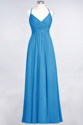 Elegant Princess Chiffon Spaghetti-Straps V-Neck Sleeveless Floor-Length Bridesmaid Dress with Ruffles_24