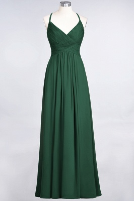 Elegant Princess Chiffon Spaghetti-Straps V-Neck Sleeveless Floor-Length Bridesmaid Dress with Ruffles_30