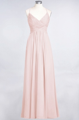 Elegant Princess Chiffon Spaghetti-Straps V-Neck Sleeveless Floor-Length Bridesmaid Dress with Ruffles_5