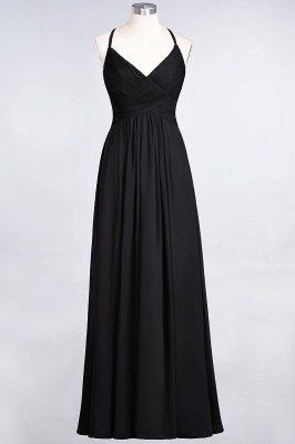 Elegant Princess Chiffon Spaghetti-Straps V-Neck Sleeveless Floor-Length Bridesmaid Dress with Ruffles_28