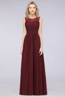 Elegant Princess Chiffon Tulle Lace Scoop Sleeveless Floor-Length Bridesmaid Dress with Ruffle_1