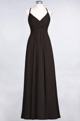 Elegant Princess Chiffon Spaghetti-Straps V-Neck Sleeveless Floor-Length Bridesmaid Dress with Ruffles_11