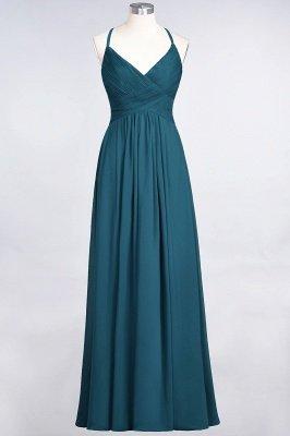 Elegant Princess Chiffon Spaghetti-Straps V-Neck Sleeveless Floor-Length Bridesmaid Dress with Ruffles_26