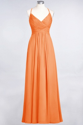 Elegant Princess Chiffon Spaghetti-Straps V-Neck Sleeveless Floor-Length Bridesmaid Dress with Ruffles_15