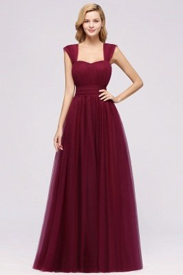 Chiffon Sweetheart Straps Sleeves Floor-Length Bridesmaid Dresses with Ruffles_35