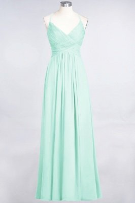 Elegant Princess Chiffon Spaghetti-Straps V-Neck Sleeveless Floor-Length Bridesmaid Dress with Ruffles_34