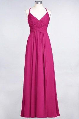 Elegant Princess Chiffon Spaghetti-Straps V-Neck Sleeveless Floor-Length Bridesmaid Dress with Ruffles_9