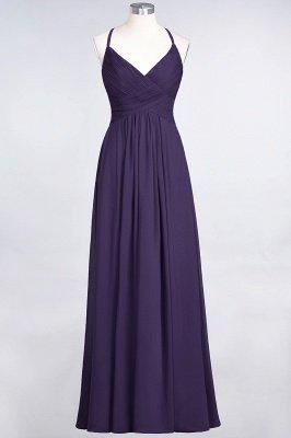 Elegant Princess Chiffon Spaghetti-Straps V-Neck Sleeveless Floor-Length Bridesmaid Dress with Ruffles_18