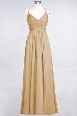 Elegant Princess Chiffon Spaghetti-Straps V-Neck Sleeveless Floor-Length Bridesmaid Dress with Ruffles_13