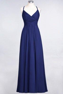 Elegant Princess Chiffon Spaghetti-Straps V-Neck Sleeveless Floor-Length Bridesmaid Dress with Ruffles_25