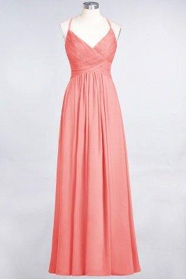 Elegant Princess Chiffon Spaghetti-Straps V-Neck Sleeveless Floor-Length Bridesmaid Dress with Ruffles_7