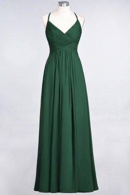 Elegant Princess Chiffon Spaghetti-Straps V-Neck Sleeveless Floor-Length Bridesmaid Dress with Ruffles_30