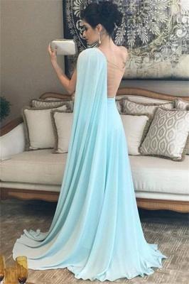 Glamorous One-Shoulder Sleeveless A-Line Evening Dresses_2