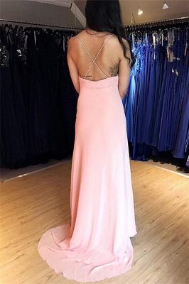 Sexy Spaghetti-Straps Appliques Backless Mermaid Prom Dresses_2