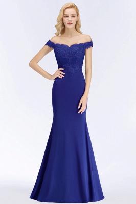 Elegant Mermaid Off-The-Shoulder Lace Green Bridesmaid Dresses_7
