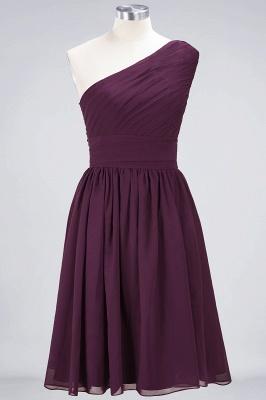 Elegant Princess Chiffon One-Shoulder Sleeveless Knee-Length Bridesmaid Dress with Ruffles_1