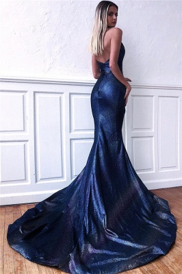 Gorgeous Halter Sequins Sleeveless V-Neck Backless Mermaid Prom Dress_2