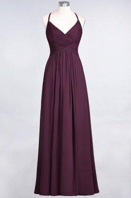 Elegant Princess Chiffon Spaghetti-Straps V-Neck Sleeveless Floor-Length Bridesmaid Dress with Ruffles_19