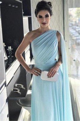 Glamorous One-Shoulder Sleeveless A-Line Evening Dresses_3