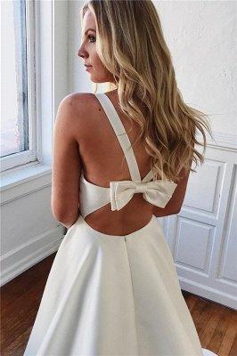 Glamorous Straps Bow Sleeveless A-Line Prom Dresses_2