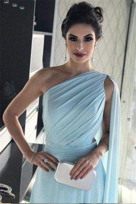 Glamorous One-Shoulder Sleeveless A-Line Evening Dresses_4
