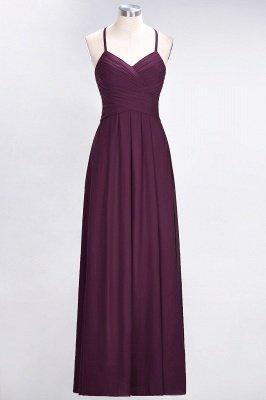 Elegant Princess Chiffon Halter V-Neck Sleeveless Floor-Length Bridesmaid Dress with Ruffles_1
