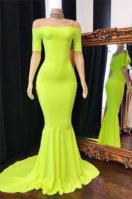 Elegant Simple Off-The-Shoulder Mermaid Prom Dresses_1