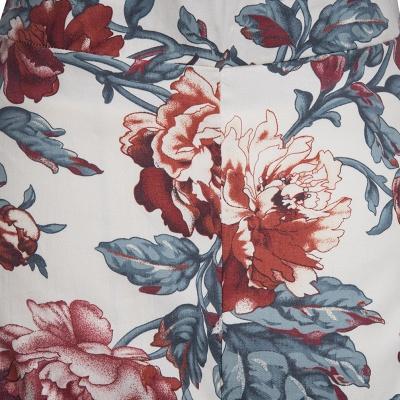 Gorgeous 3/4-Length-Sleeves Scoop Fashion Dresses | Floral Women's Dresses_4