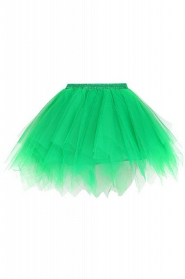 Charming Tulle Short A-line Mini Skirts | Elastic Women's Skirts_12