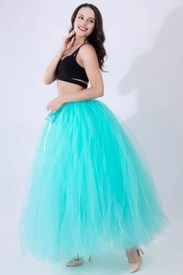 Fascinating Tulle Floor-Length Ball-Gown Skirts | Elastic Women's Skirts_23