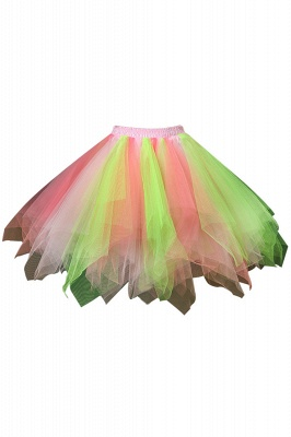 Charming Tulle Short A-line Mini Skirts | Elastic Women's Skirts_13