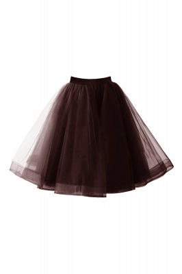 Alluring Tulle Short A-line Skirts | Elastic Women's Skirts_5