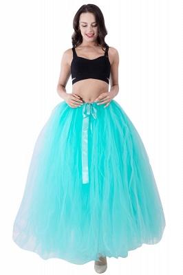 Fascinating Tulle Floor-Length Ball-Gown Skirts | Elastic Women's Skirts_16