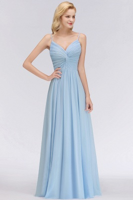 Chiffon V-Neck Spaghetti Straps Floor-Length Bridesmaid Dresses_3