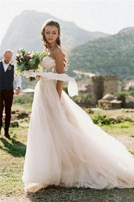 Appliques simples bustier chérie robe de mariée une ligne_1