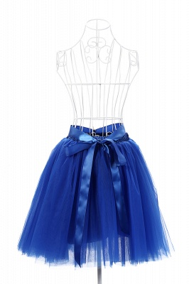 Amazing Tulle Short Mini Ball-Gown Skirts | Elastic Women's Skirts_21