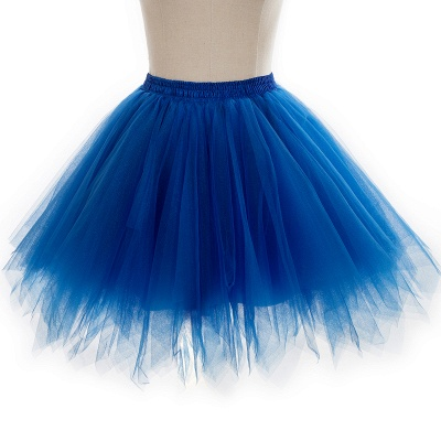 Charming Tulle Short A-line Mini Skirts | Elastic Women's Skirts_18