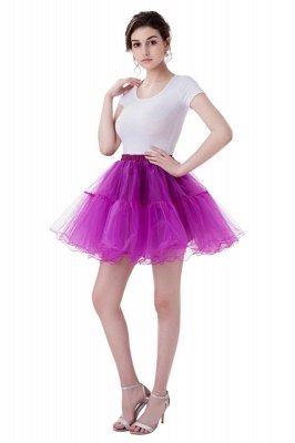 Brilliant Tulle Mini Short A-line Skirts | Elastic Women's Skirts_9
